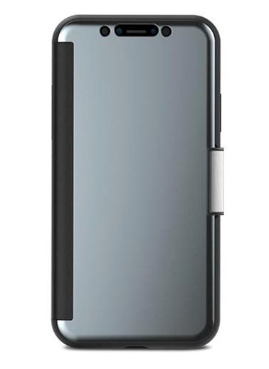 StealthCover iPhone X Gunmetal Gri Telefon Kılıfı-Moshi